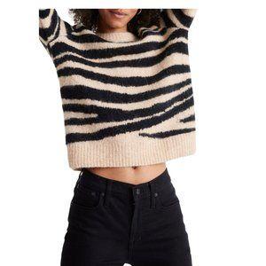 NWT Madewell Tiger Stripe Sweater - S